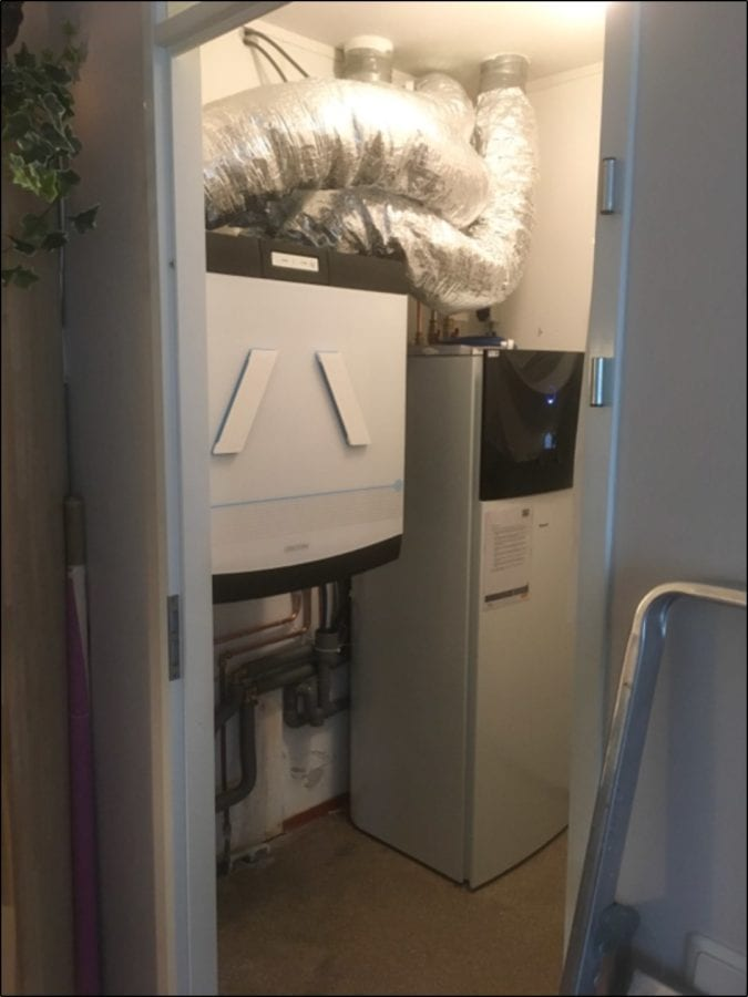 Installatie warmtepompen t grootslag
