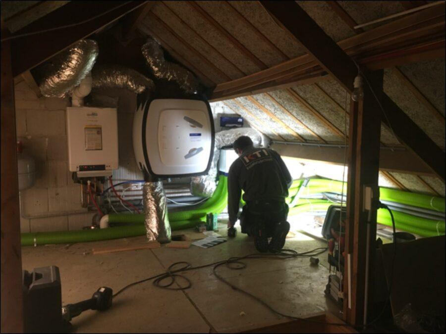 Duurzame installatie op zolder
